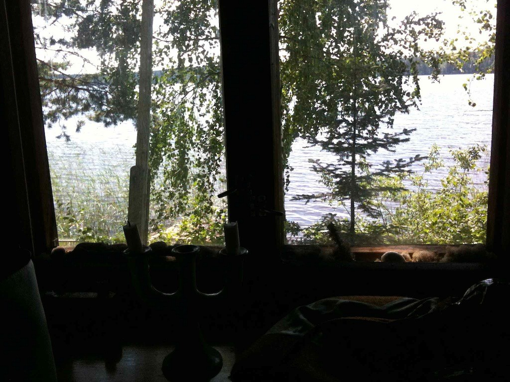 Allein reisen Erfahrungen: Finnland Mökki See