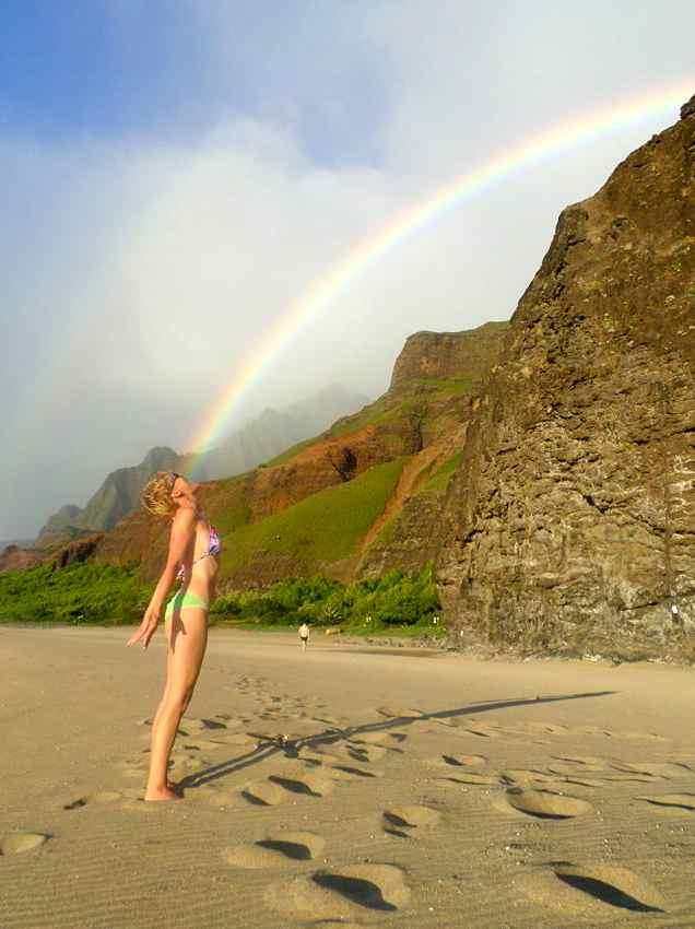 Anneke am Kalalui Beach, Hawaii