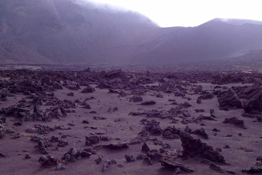 Lavagestein am Grund des Kraters Haleakala, Maui, Hawaii