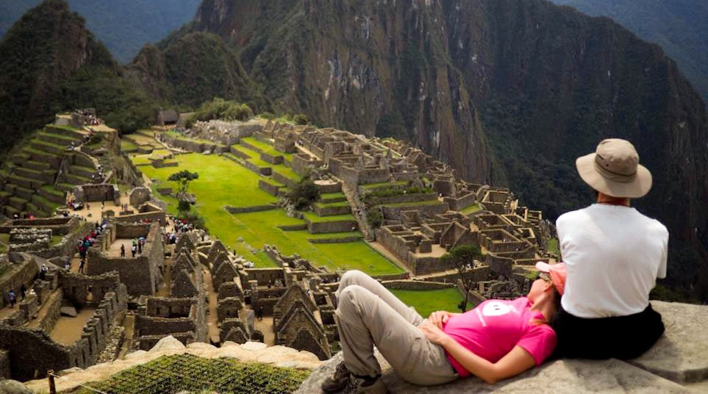 "Liane und Lars von ""Bob around the World"" in Machu Picchu"