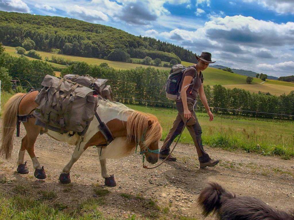 Wandern mit Pferd: Unterwegs im schönen Hessen