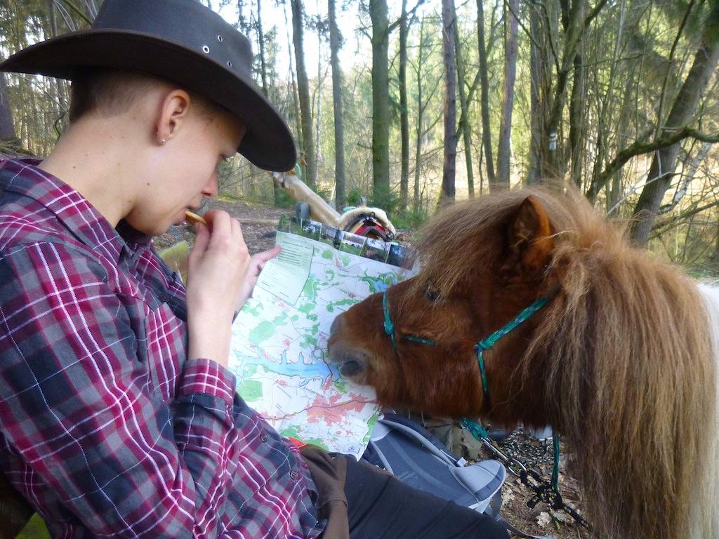 Wandern mit Pferd: Sarah und Egon in Thüringen