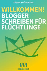 """Cover - """"Willkommen! Blogger schreiben für Flüchtlinge"""", ISBN"""