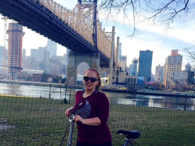 Deutsche in New York: Bianca vor der Queensboro Bridge