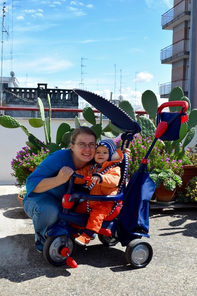 Leben in Apulien Italien: Mit Davide auf unserer Terrasse
