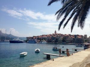Fähre nach Dubrovnik von Korcula Kroatien
