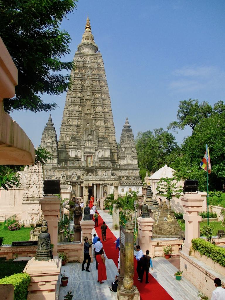 Der Mahabodhi-Tempel in Bodhgaya