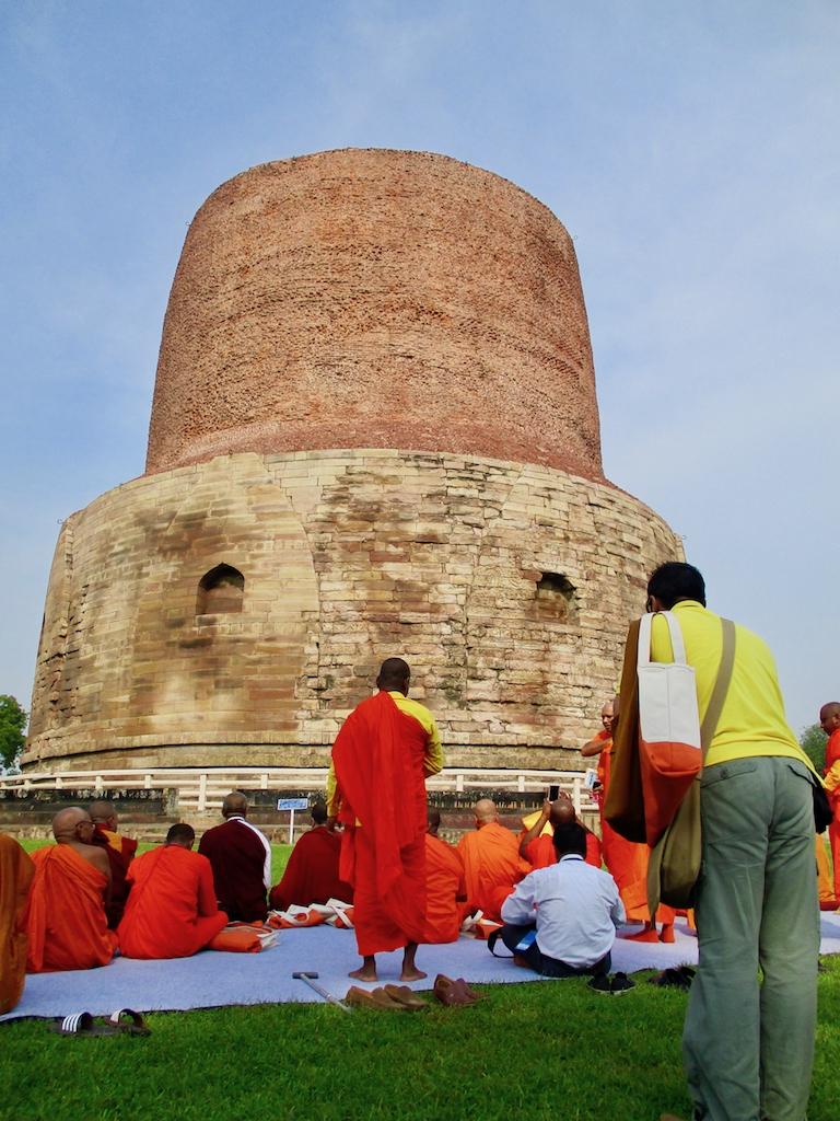 Buddhismus Indien: Stupa in Sarnath