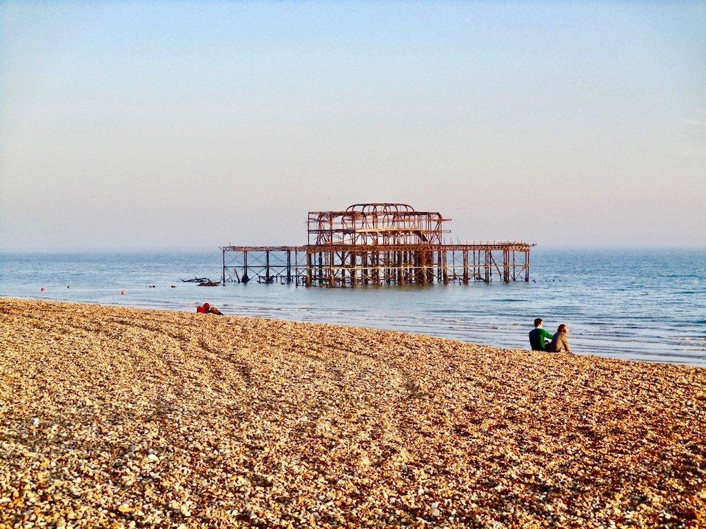 Urlaub in Brighton: Das Gerippe des West Piers