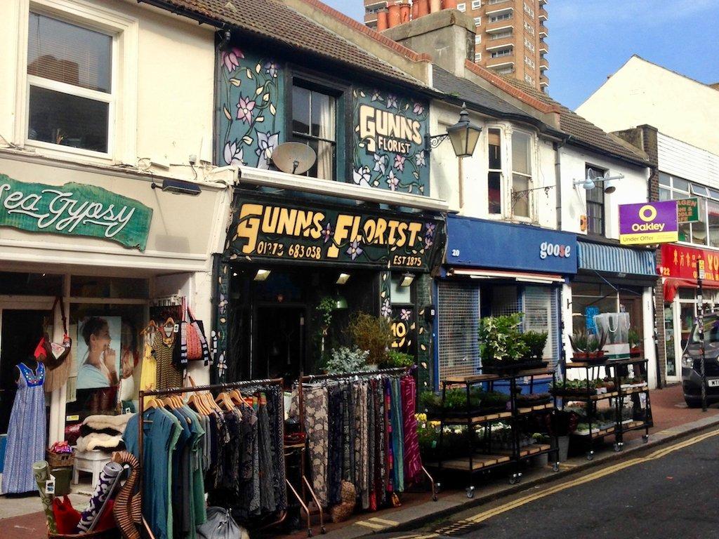 Urlaub in Brighton: Straße in North Laine