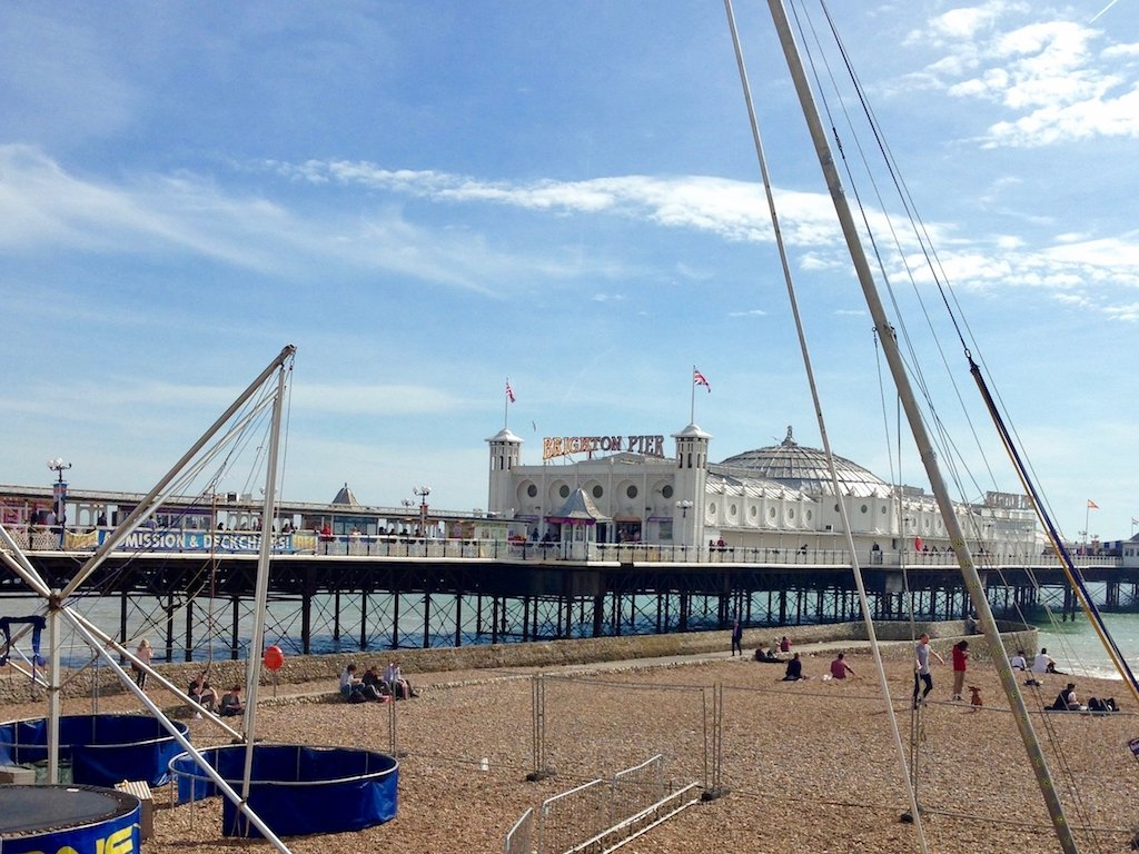 Urlaub in Brighton: Brighton Pier von der Promenade aus