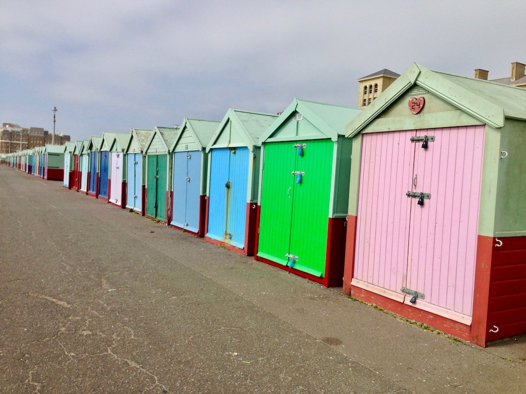 Urlaub in Brighton: Beach huts in Hove