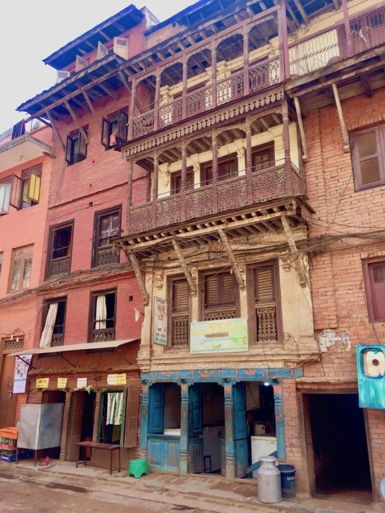 Sehenswürdigkeiten in Kathmandu und Umgebung: Fassade in Bhaktapur