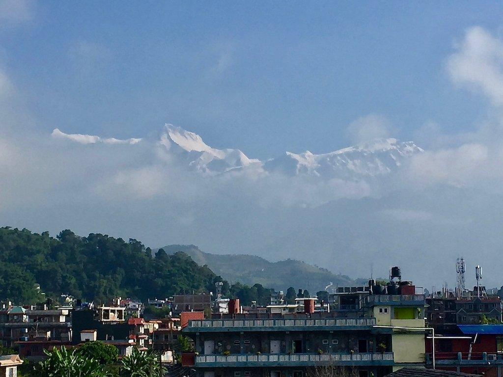 Himalaya-Blick in Pokhara