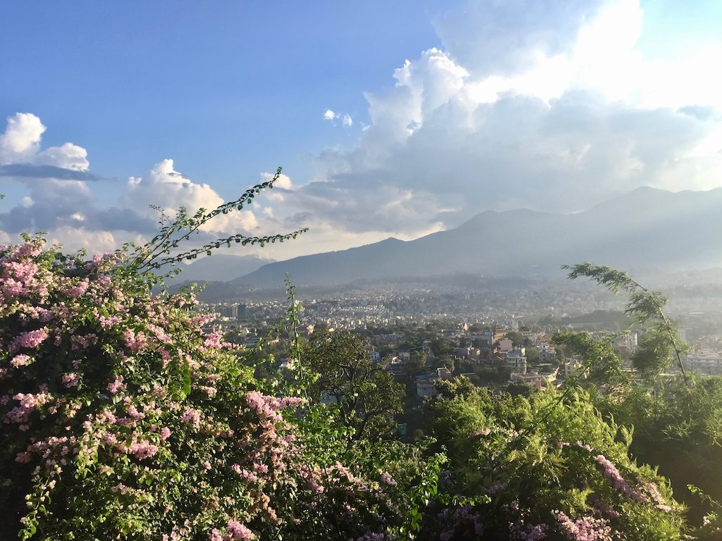 Sehenswürdigkeiten in Kathmandu: Blick von Swayambhunath