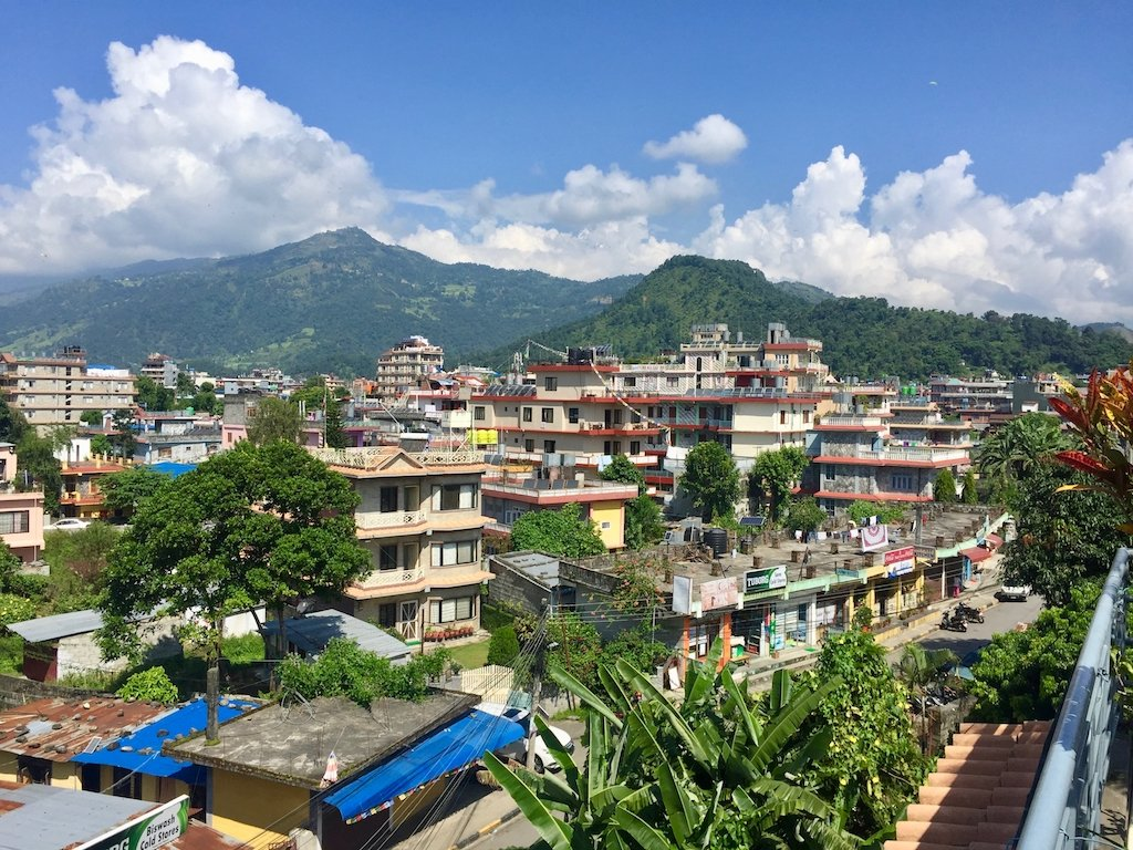 Landschaft in Pokhara