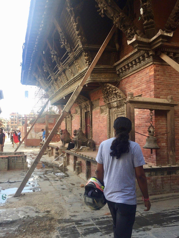Erdbeben Nepal heute Stützbalken in Patan