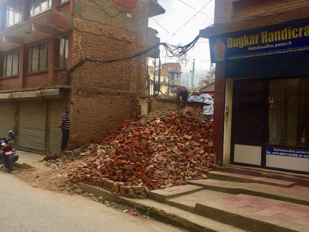 Erdbeben Schäden in Patan