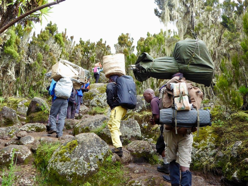 Kilimandscharo-Besteigung: So beladen sind die Porter