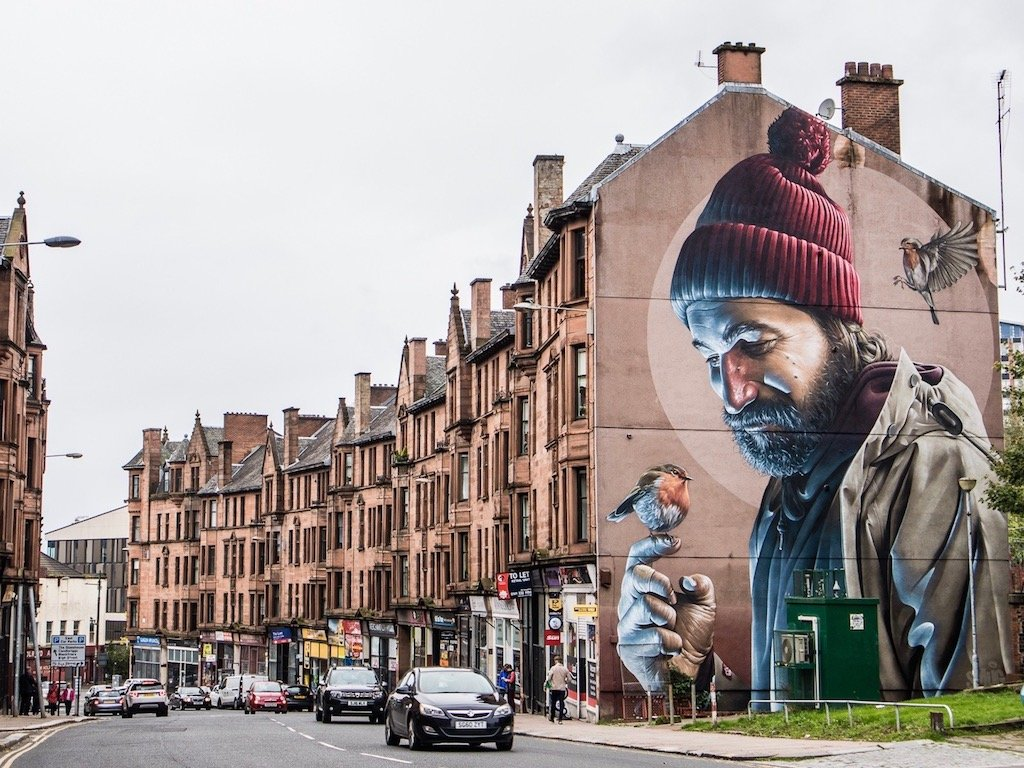 Leben in Schottland: Streetart in Glasgows East End