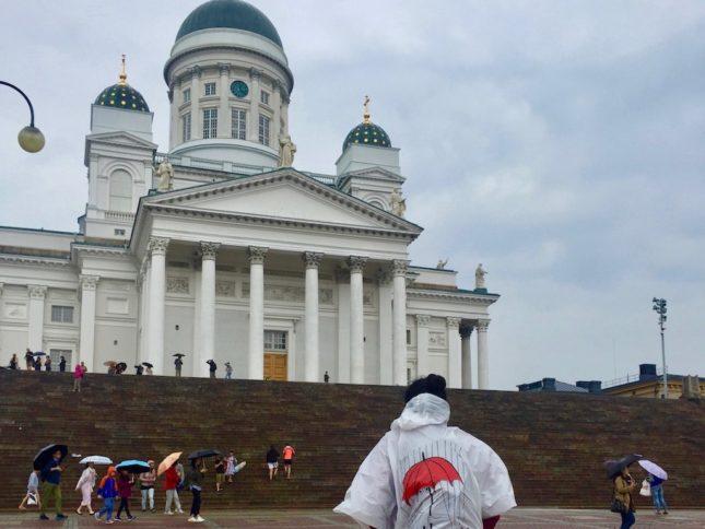 Helsinki bei Regen: Gegenüber vom Dom befindet sich das tolle Helsinki City Museum
