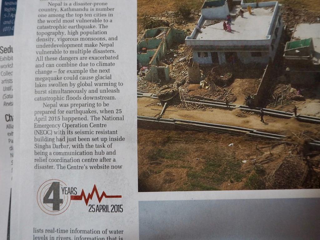 Wie wahrscheinlich ist ein neues Erdbeben Nepal? Nepali Times vom 5. April 2019