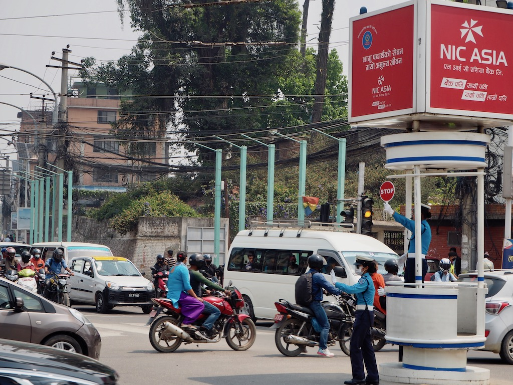 Verkehr in Nepals Hauptstadt