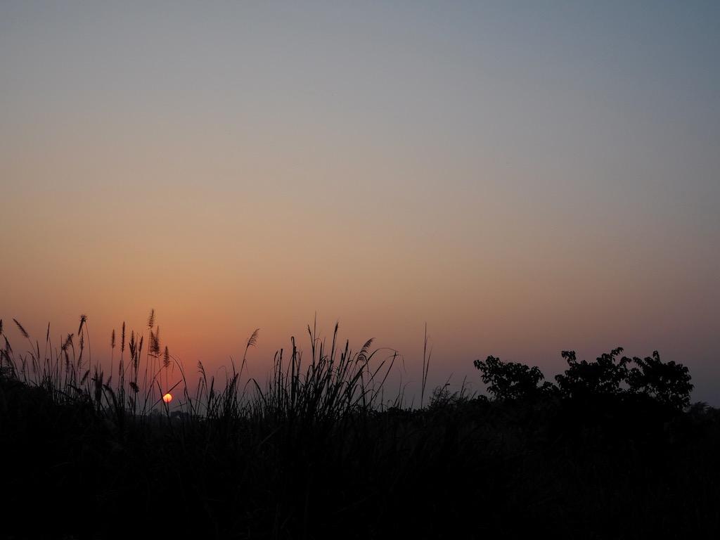 Sonnenuntergang im Chitwan Nationalpark