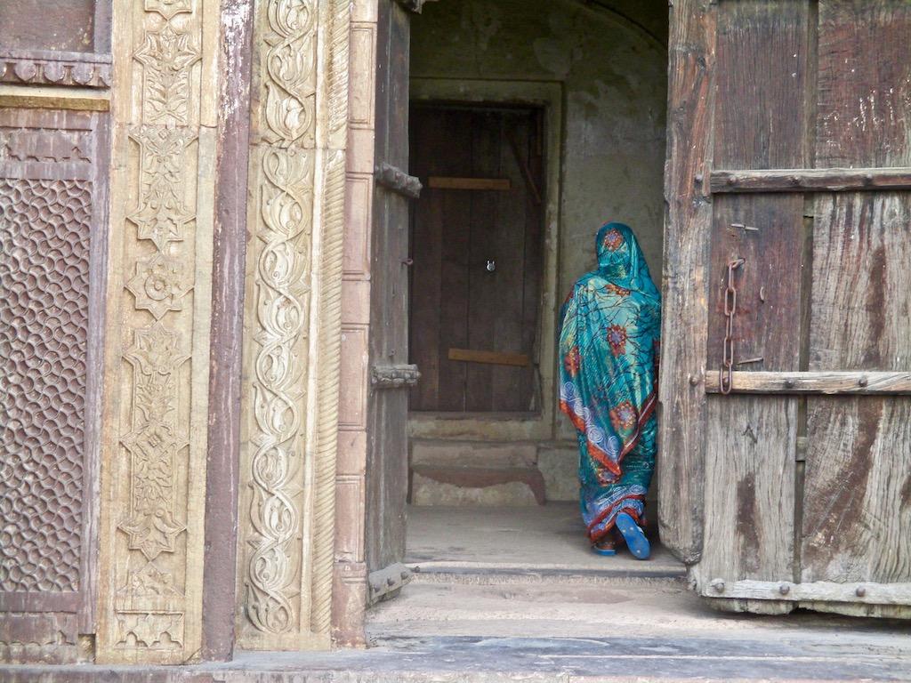 Frau in Orchha Indien