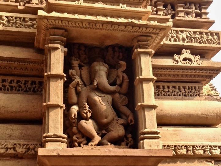 Liebe zum Detail: Ganesh-Figur in Khajuraho