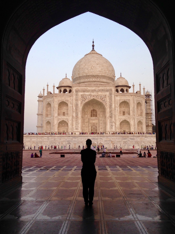 Taj Mahal, eingerahmt