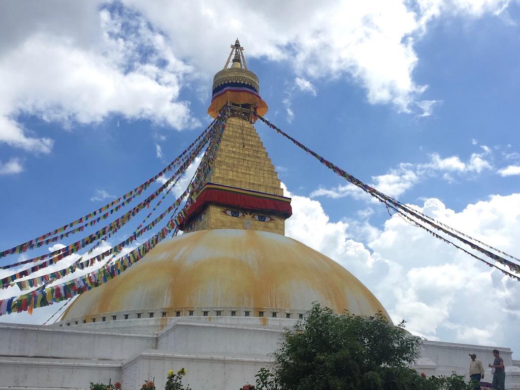Kathmandu Sehenswuerdigkeiten: Der Stupa von Boudhanath ist eine der bekanntesten