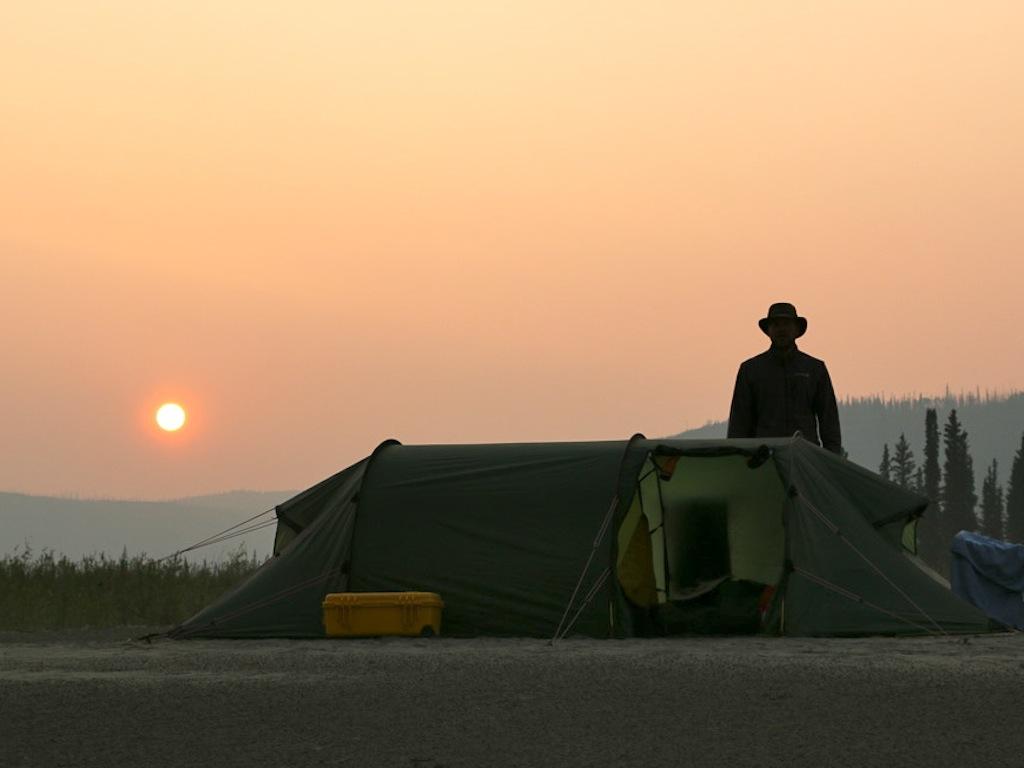 Sonnenuntergang im Nordwesten Kanadas