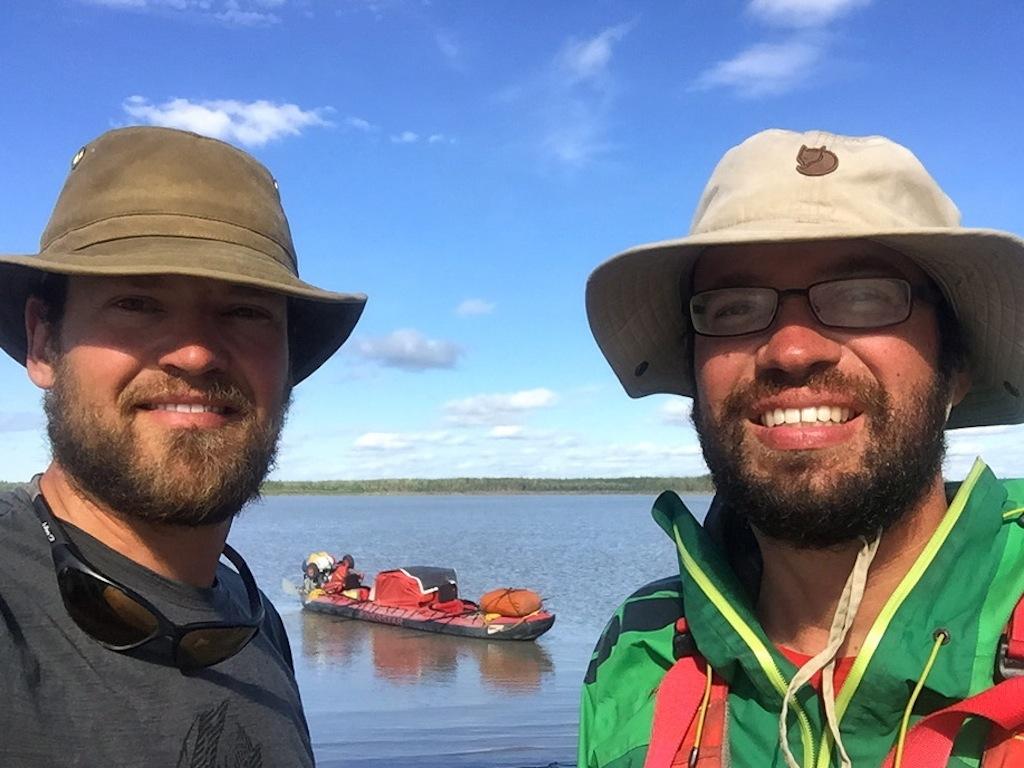 Reisende auf dem Yukon River