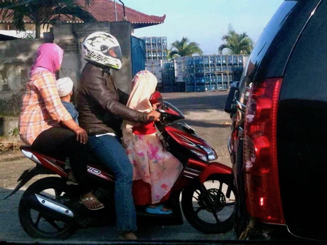 Unterwegs von Kuta nach Ubud Bali: Stau