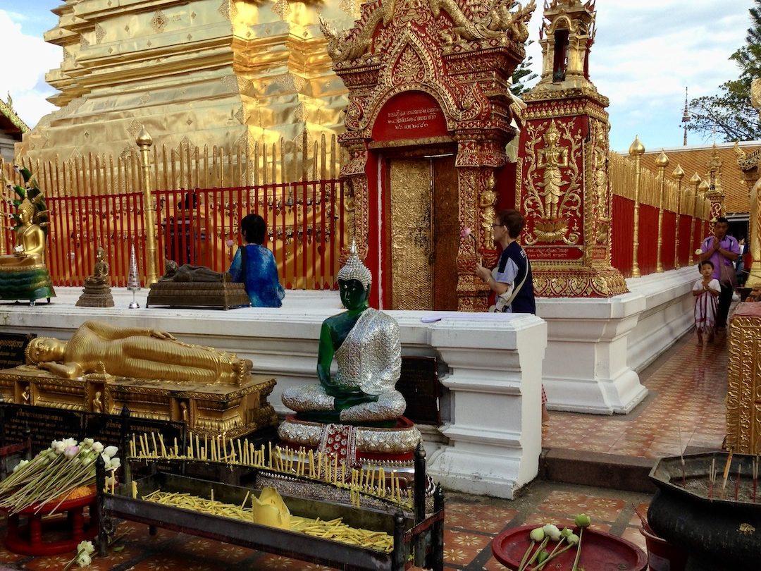 Wat Phra That Doi Suthep Chiang Mai in Thailand
