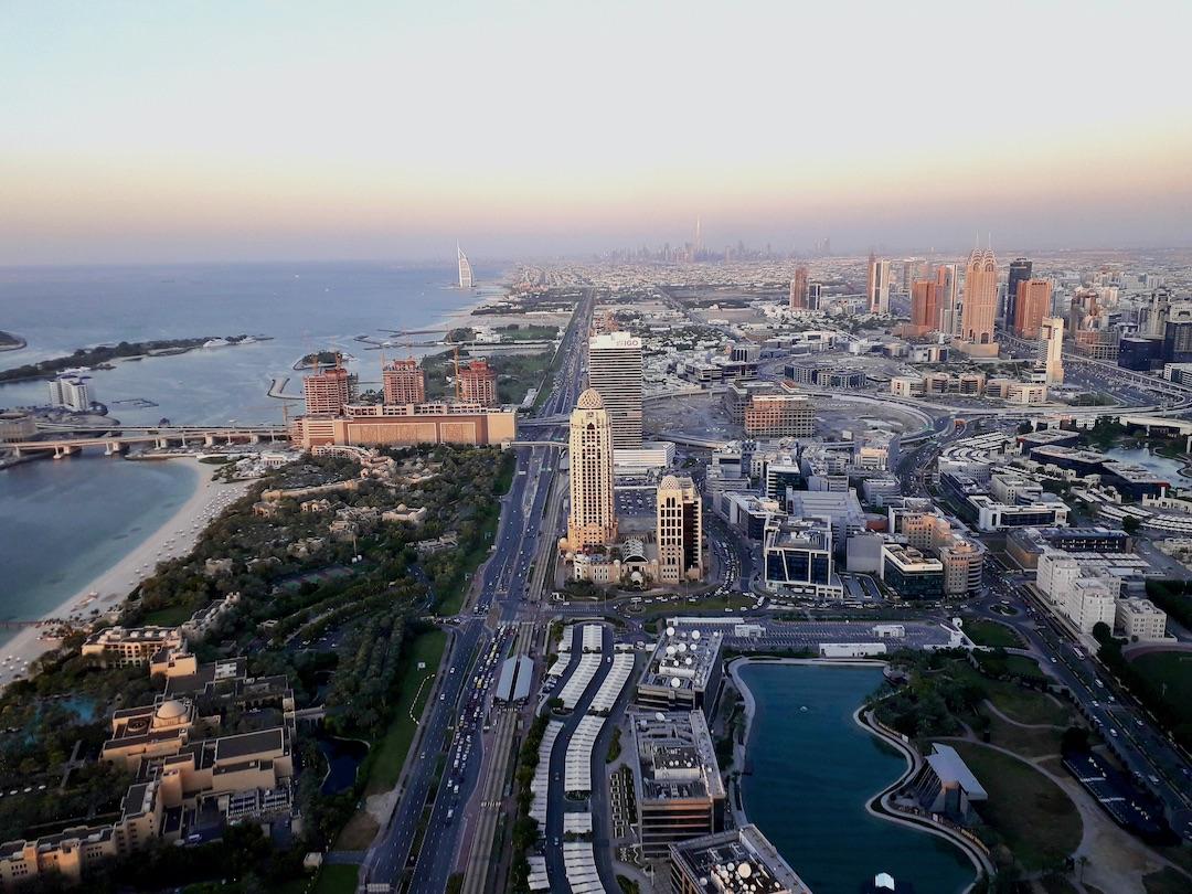 Patricia und ihr Mann leben in Dubai und haben diesen Ausblick