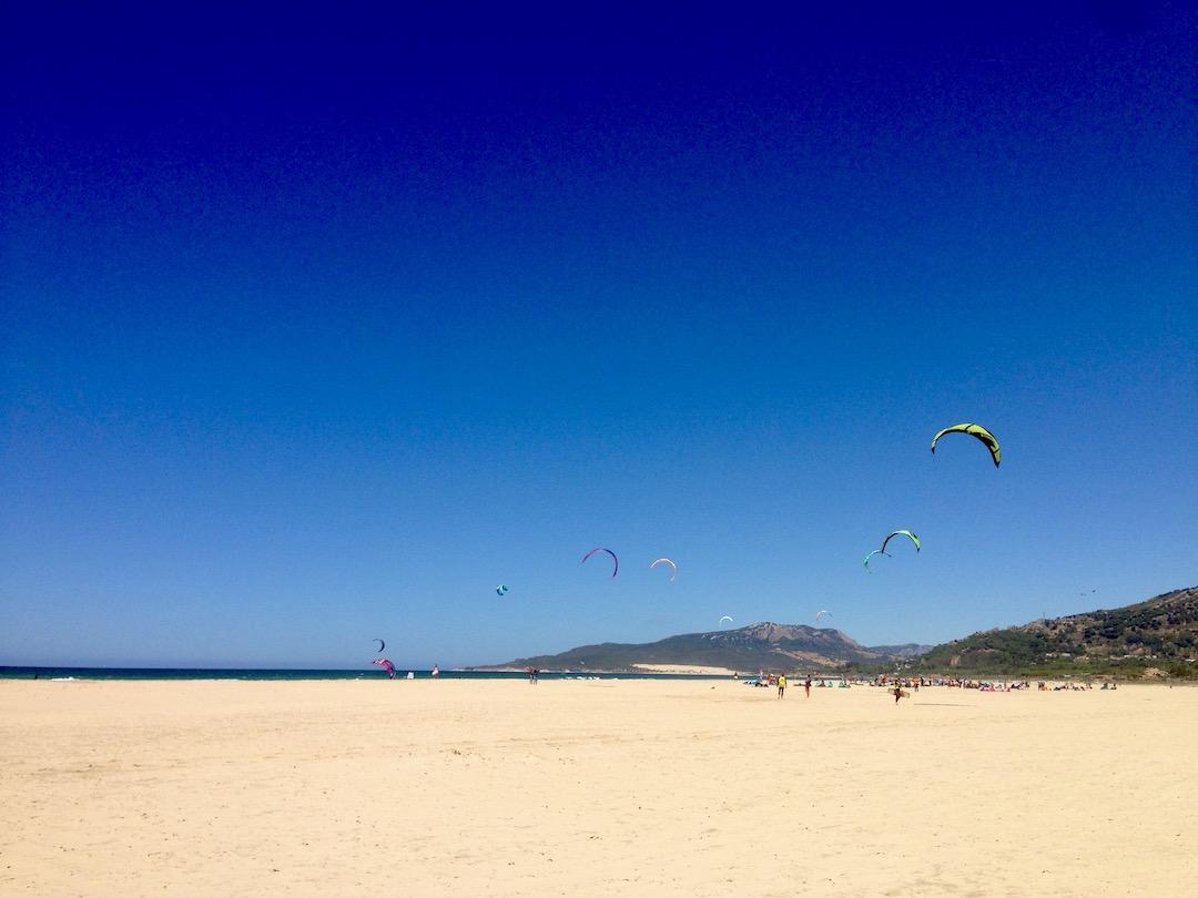 Strand in Tarifa, Spanien