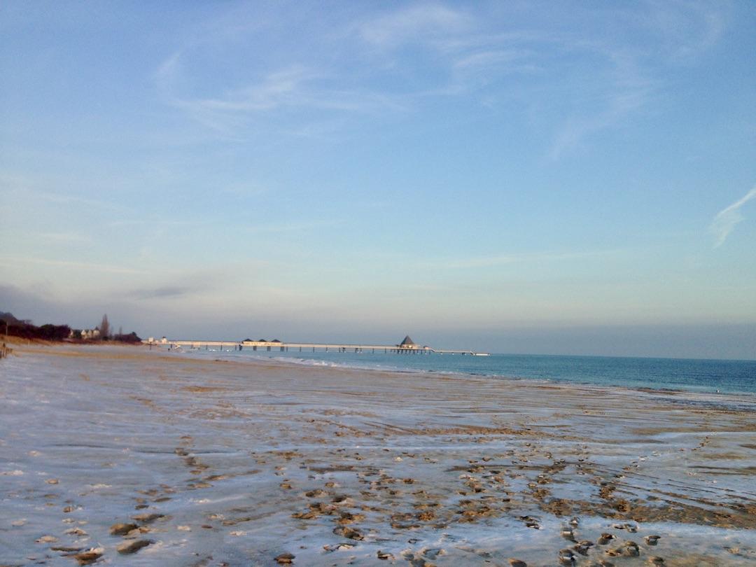 Strand in Heringsdorf im Winter
