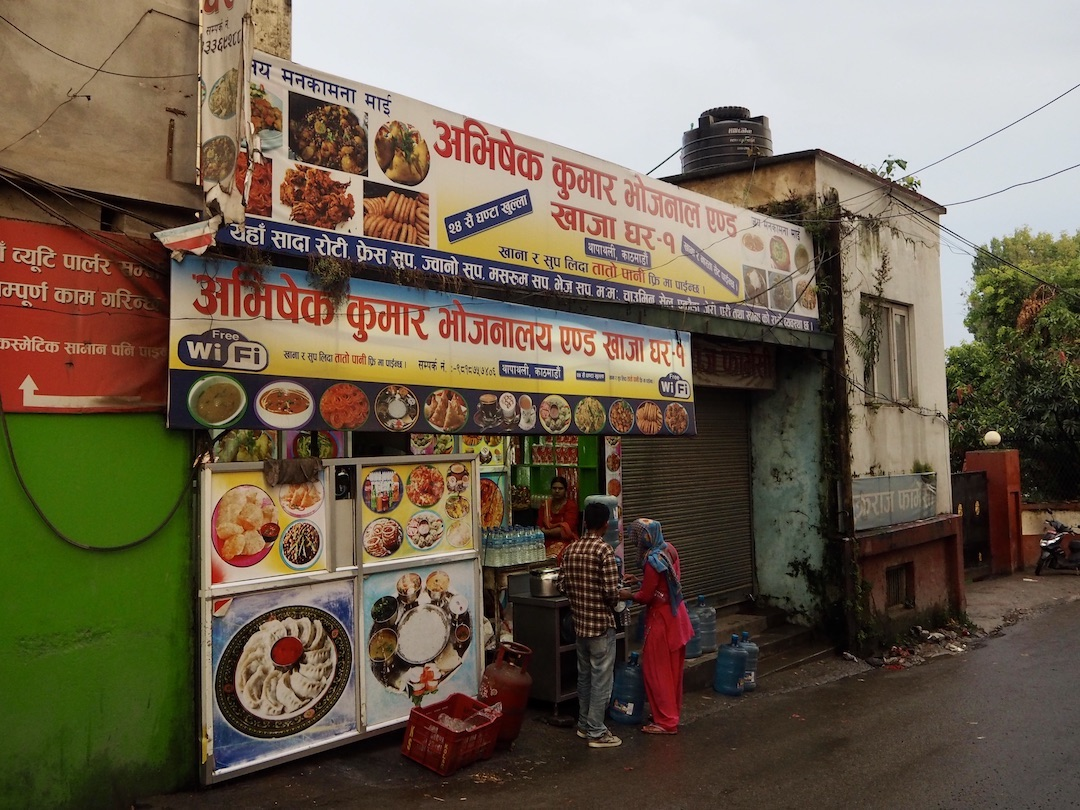 Schilder in Kathmandu