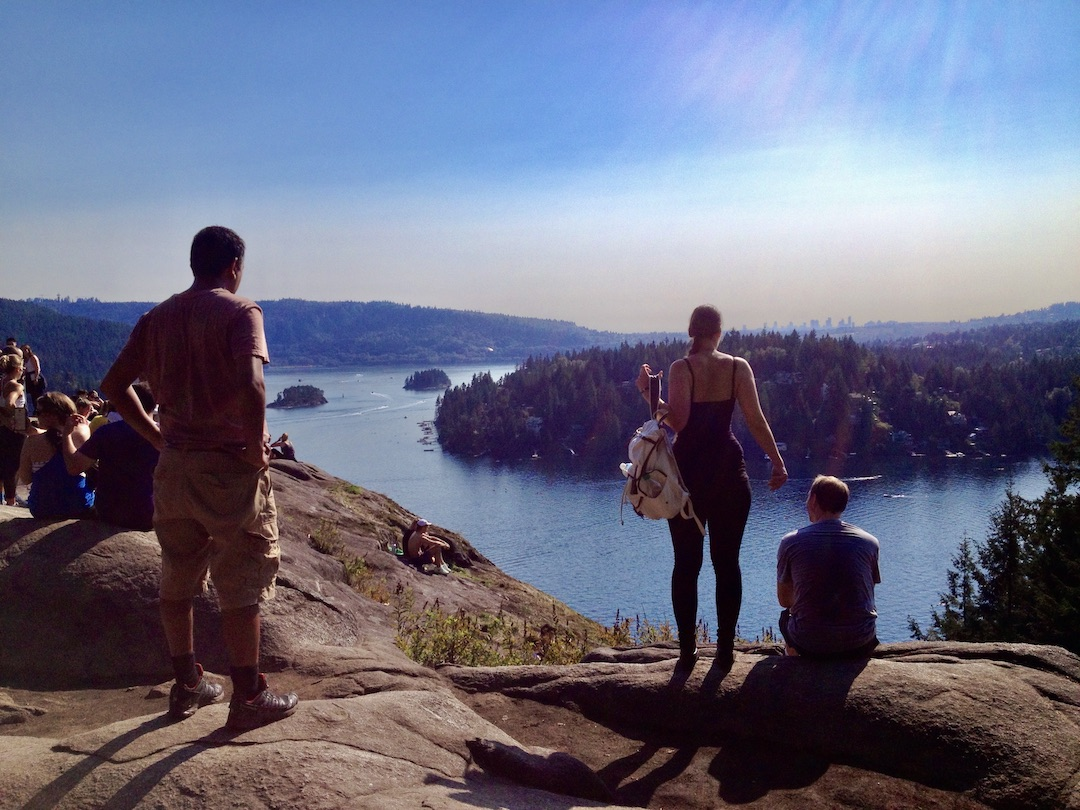 Am Quarry Rock in Deep Cove