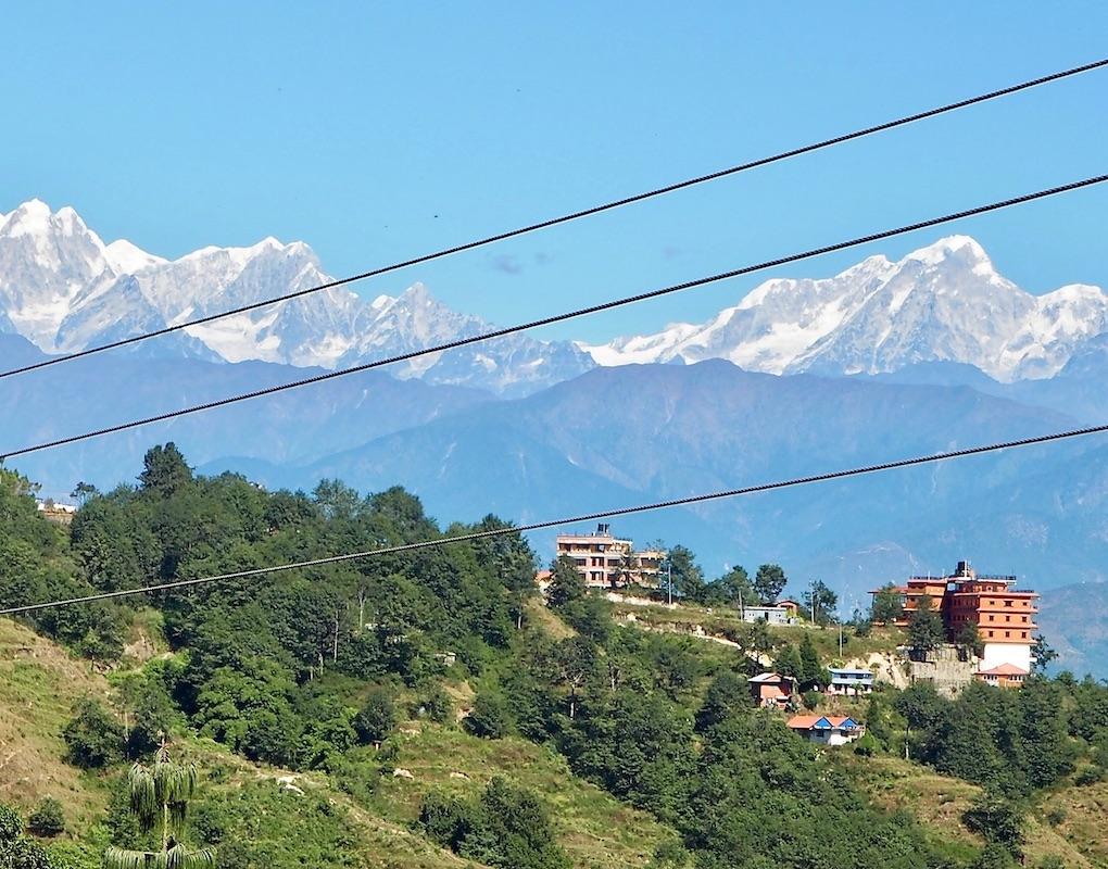 Nagarkot: Die Berge und der Müll