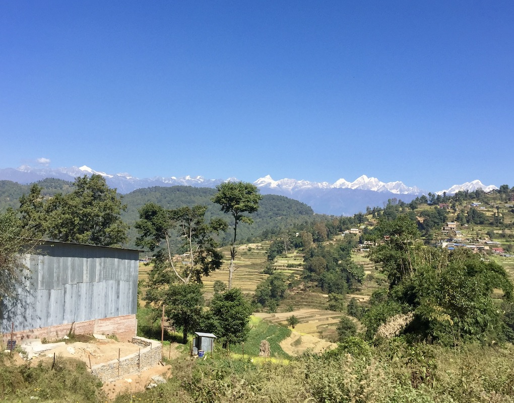 Kathmandu nach Nagarkot: Blick von der Straße
