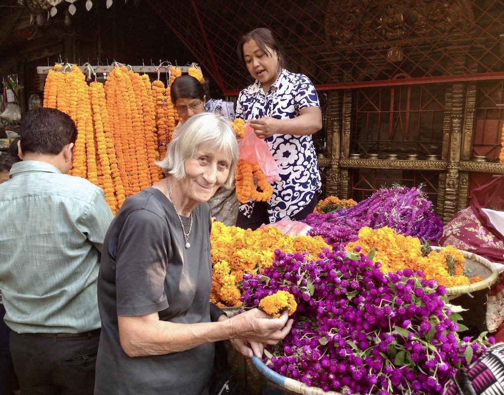 SES Bonn: Hannelore beim Einsatz in Nepal