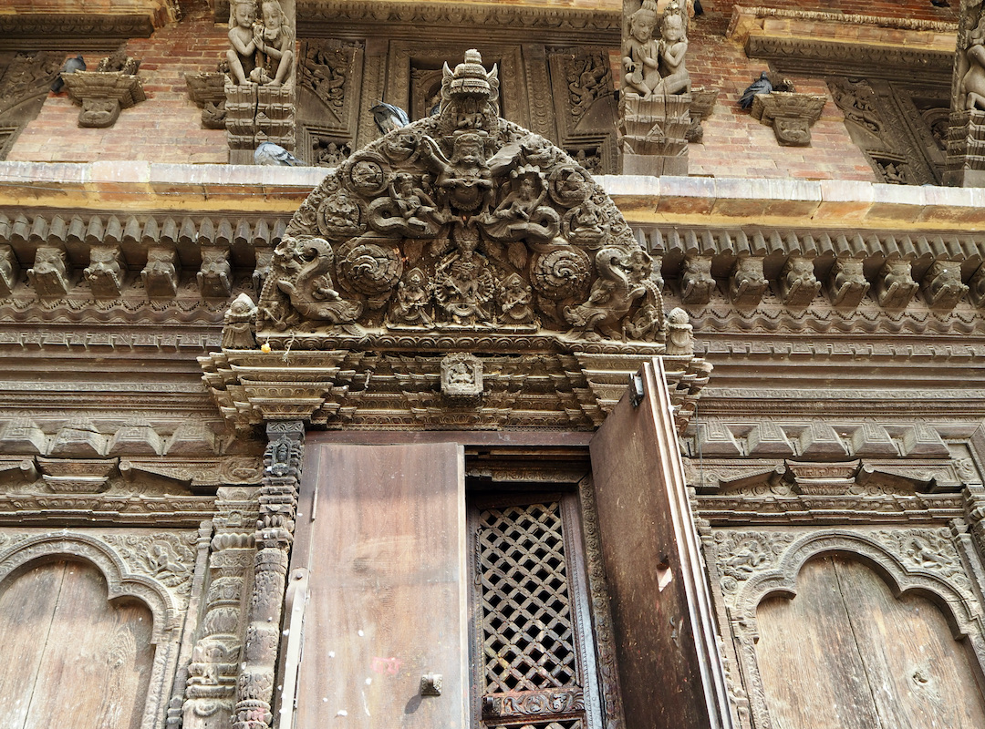 Panauti: Tür am Indreshwar Mahadev Tempel